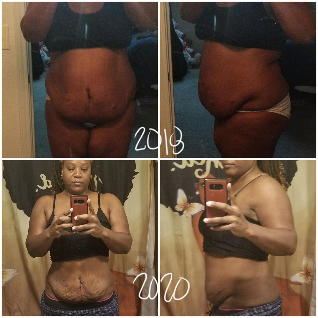 La Toya lost 67 pounds