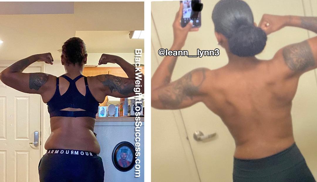 Leann lost 100 pounds