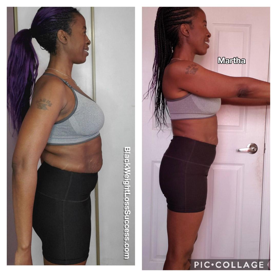 Martha lost 16 pounds