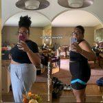 Paige lost 67 pounds