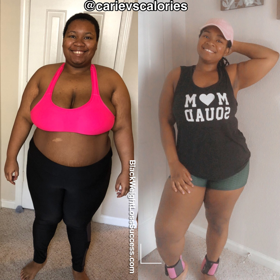 Carie lost 80 pounds