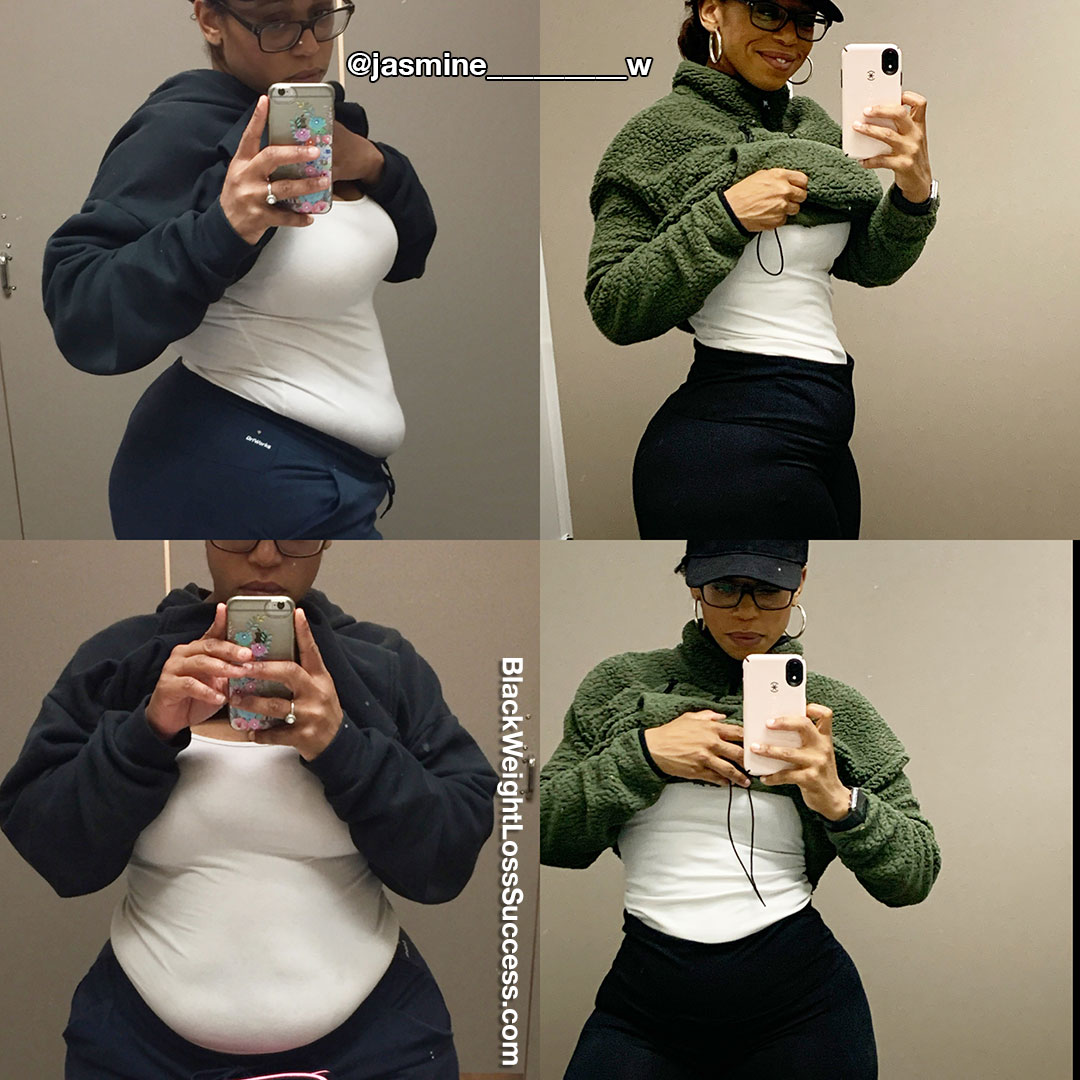 Jasmine lost 80 pounds