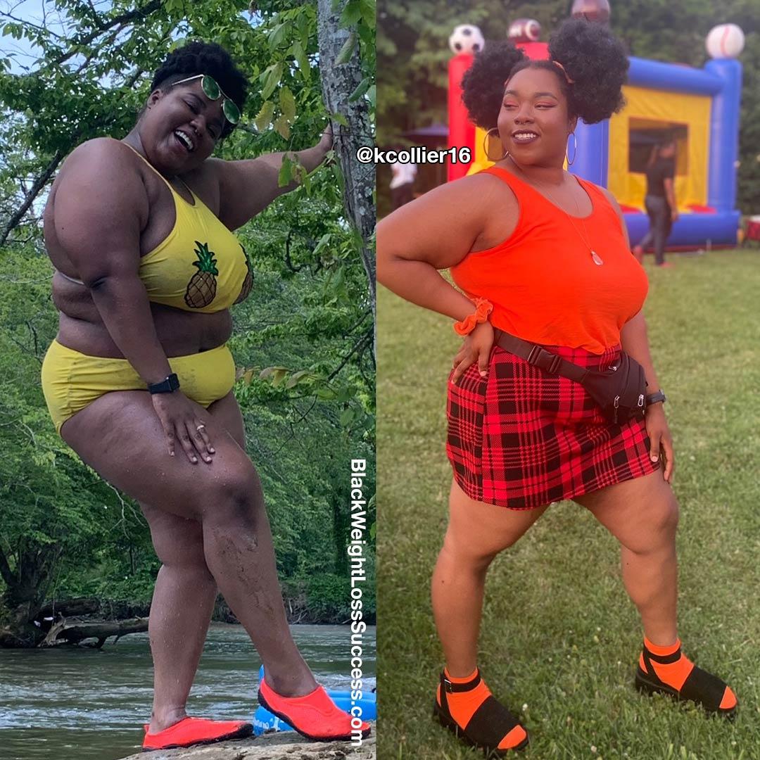 Kristen lost 75 pounds