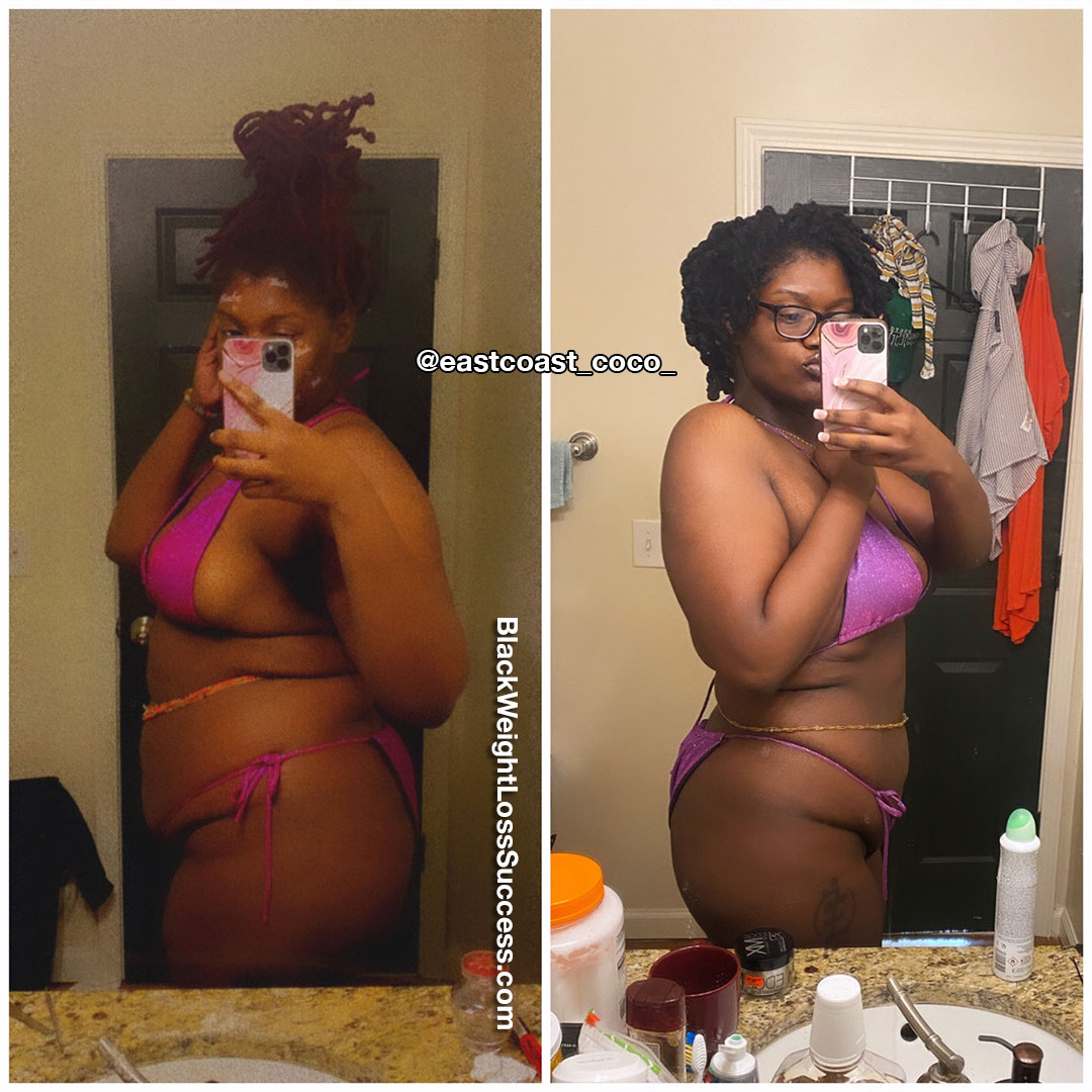 Mecca lost 32 pounds