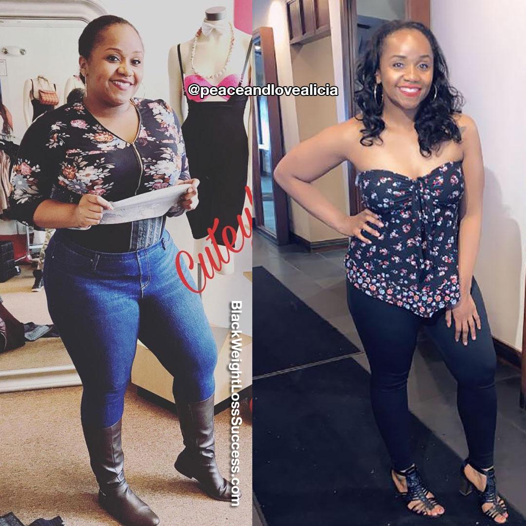 Alicia lost 42 pounds