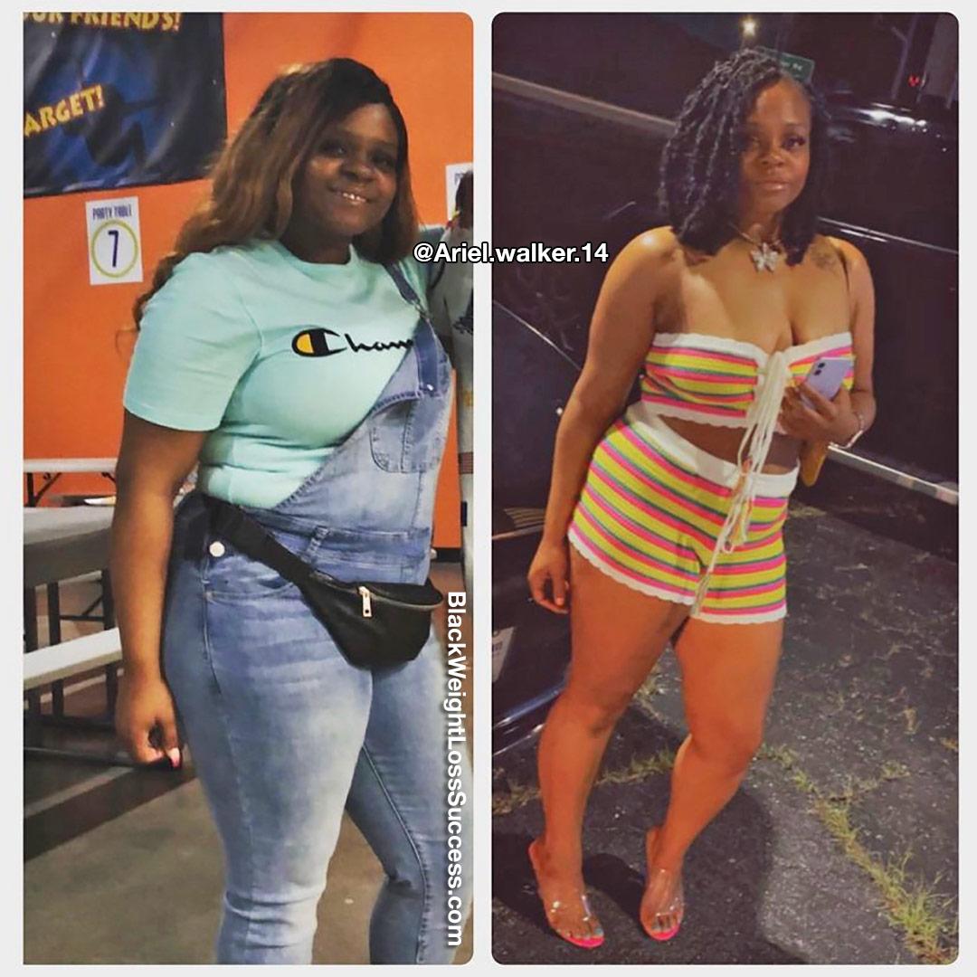 Ariel lost 51 pounds