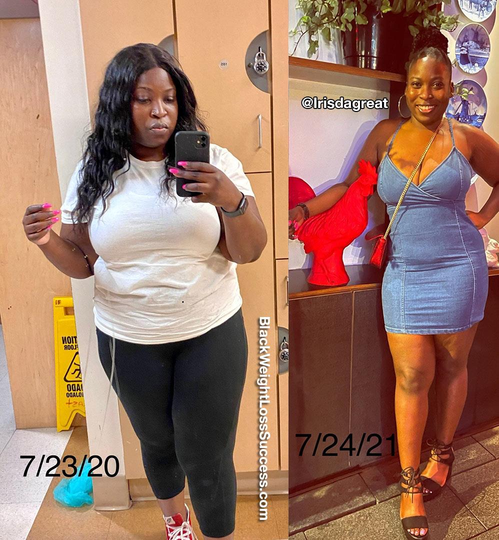 Iris lost 61 pounds