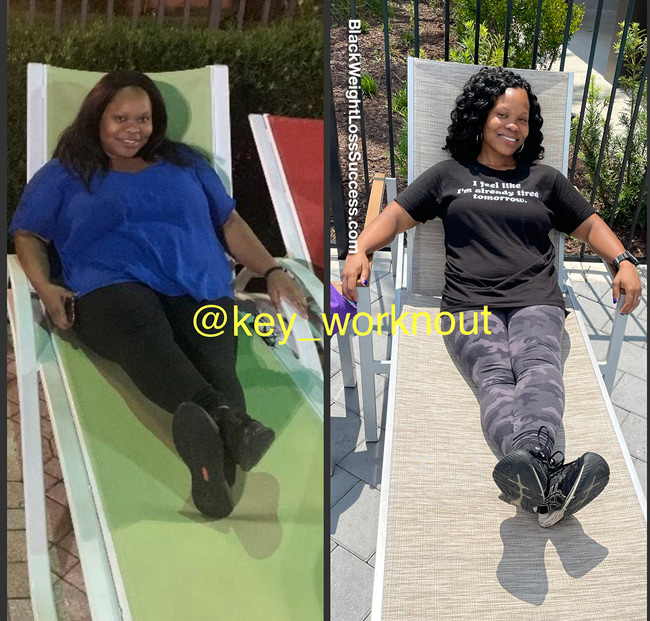 Keisha lost 75 pounds