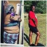 Kinyatta lost 97 pounds
