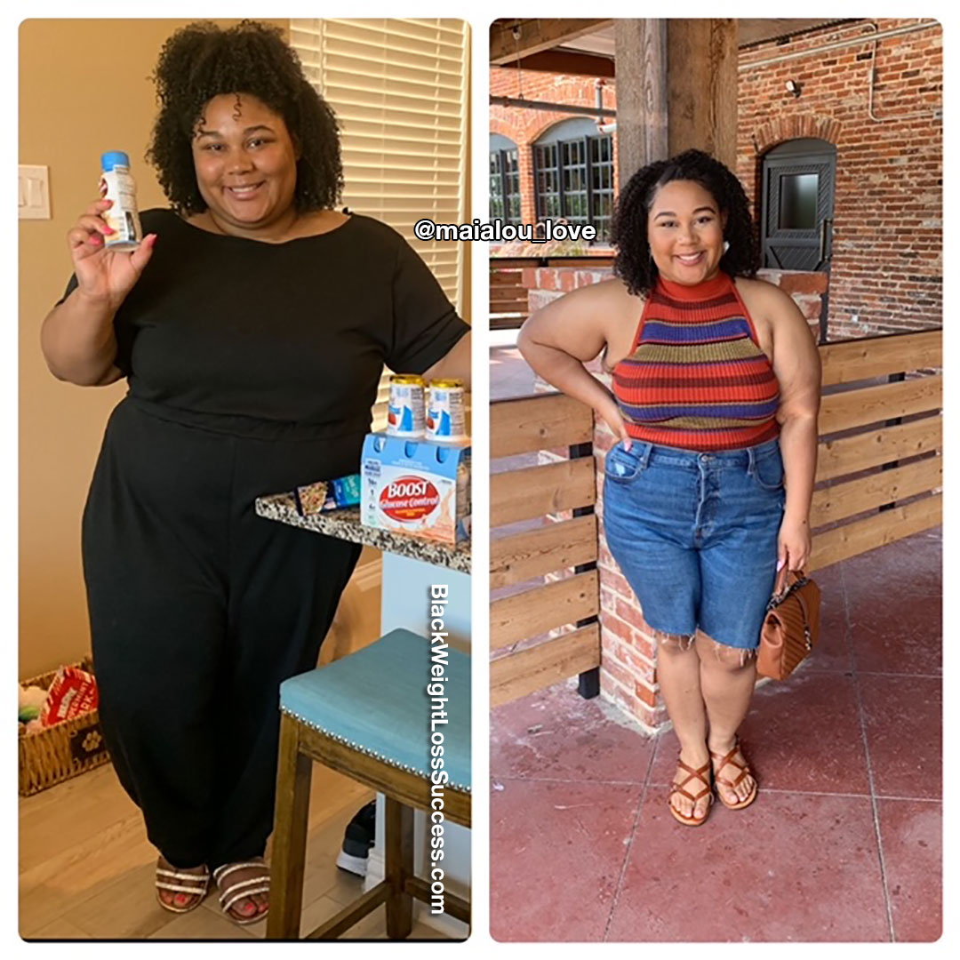 Maia lost 71 pounds