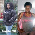 Monesha lost 42 pounds