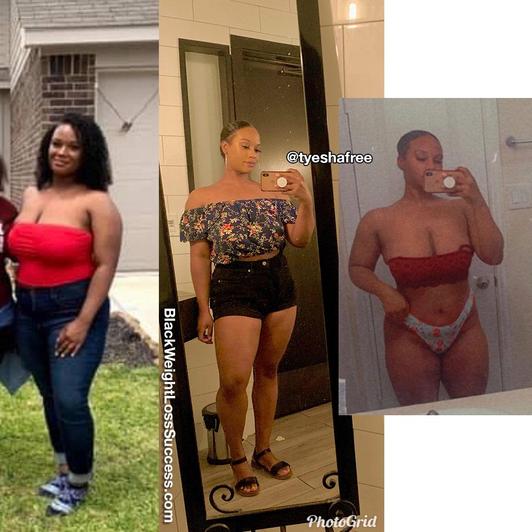 Tyesha lost 26 pounds