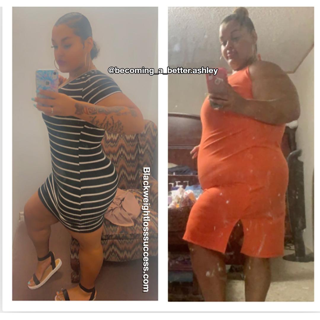 Ashley lost 215 pounds
