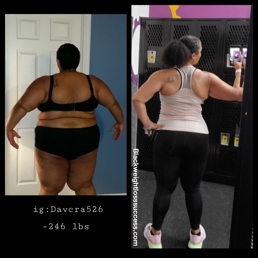 DaVina lost 246 pounds
