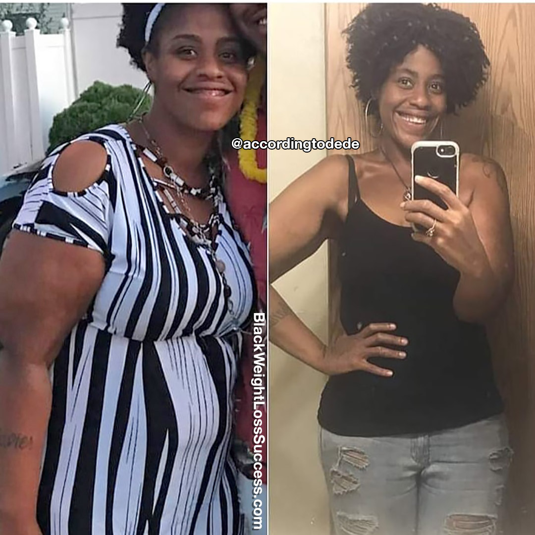 Deja lost 169 pounds
