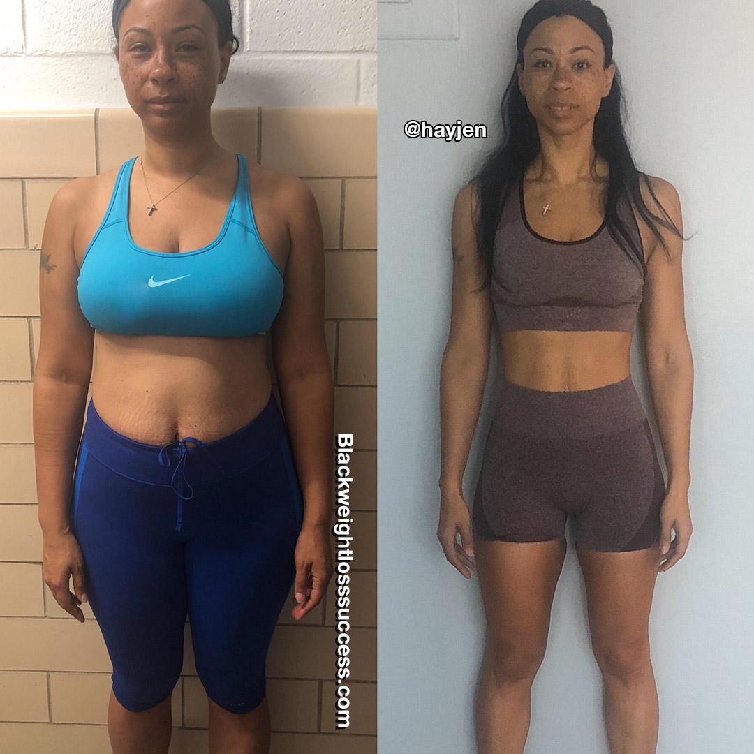 Jennifer lost 100 pounds