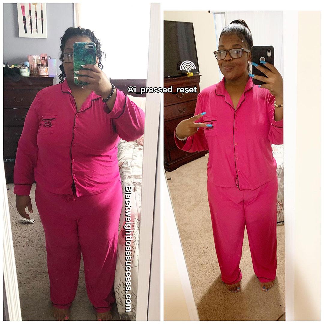 Kenyata lost 81 pounds