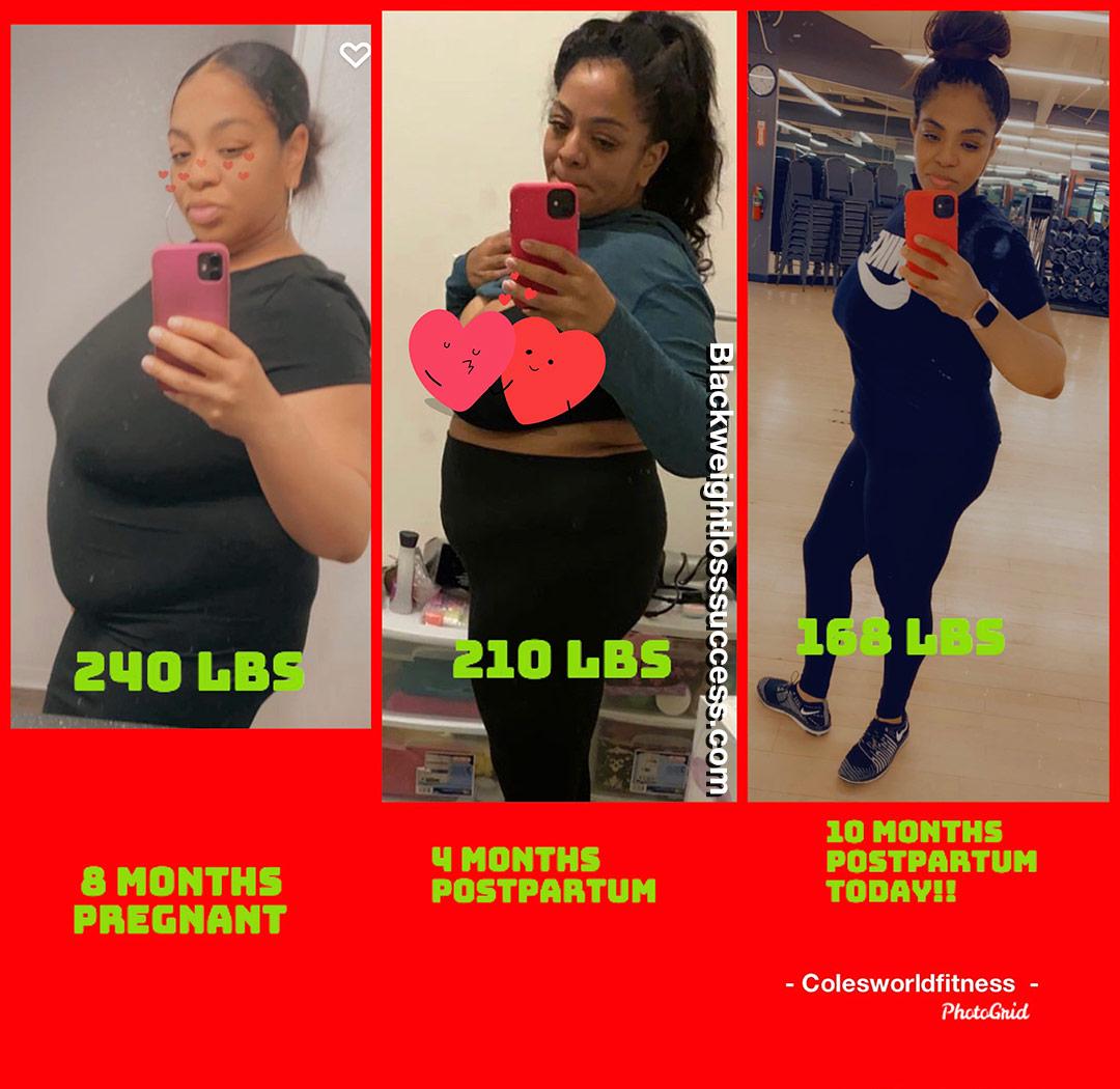 Lacole lost 80 pounds