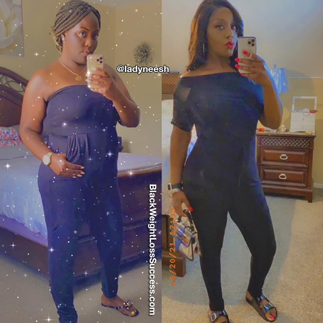Lanisha lost 84 pounds