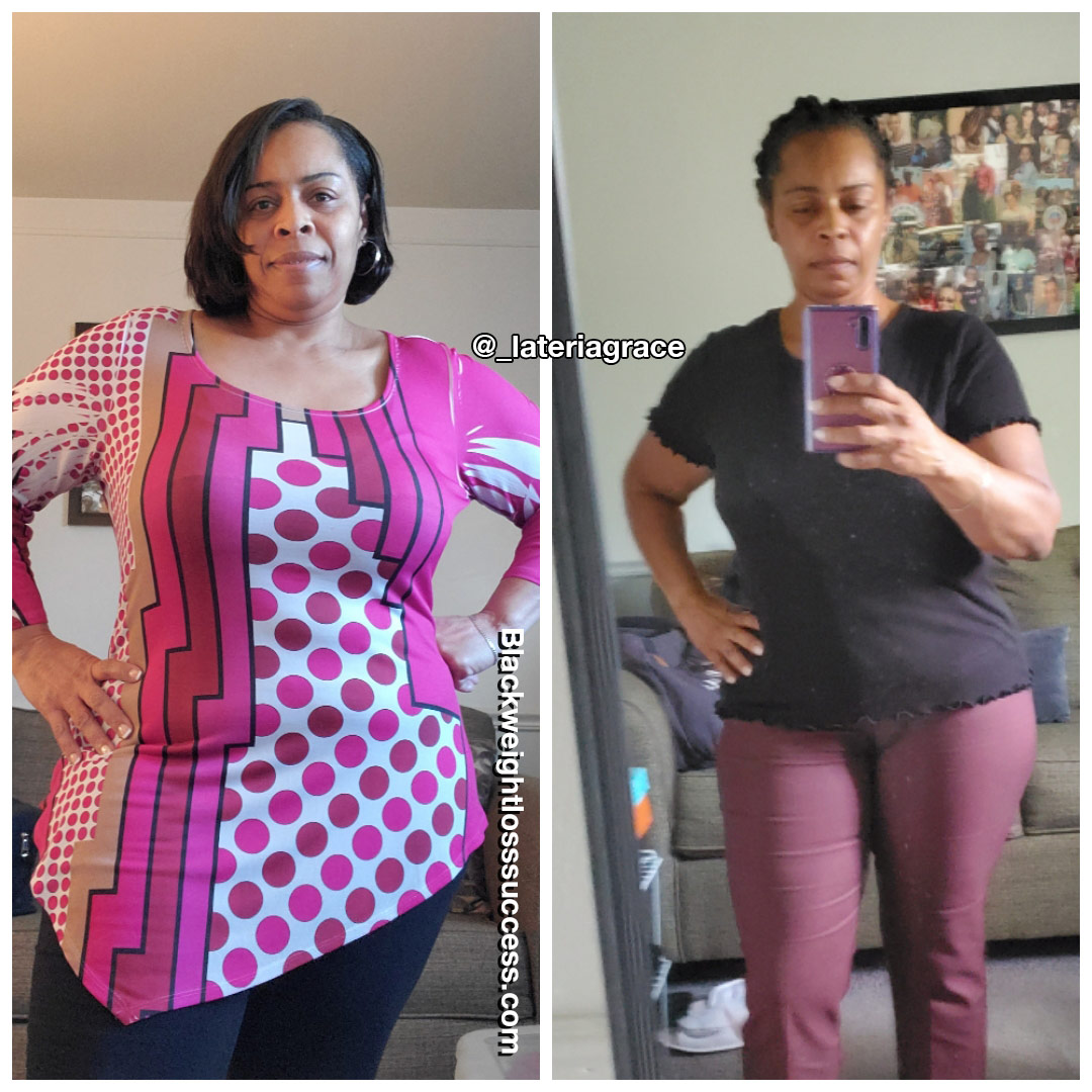 Lateria lost 33 pounds