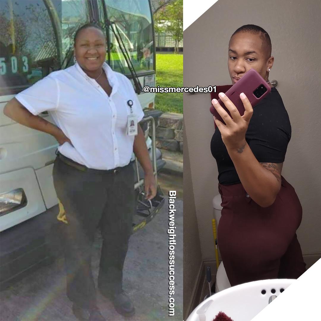 Mercedes lost 77 pounds