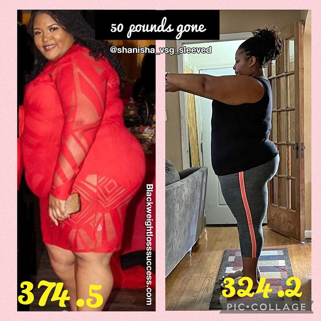 Shanisha lost 50 pounds