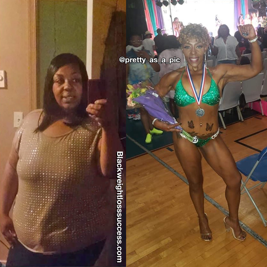 Sharna lost 190 pounds