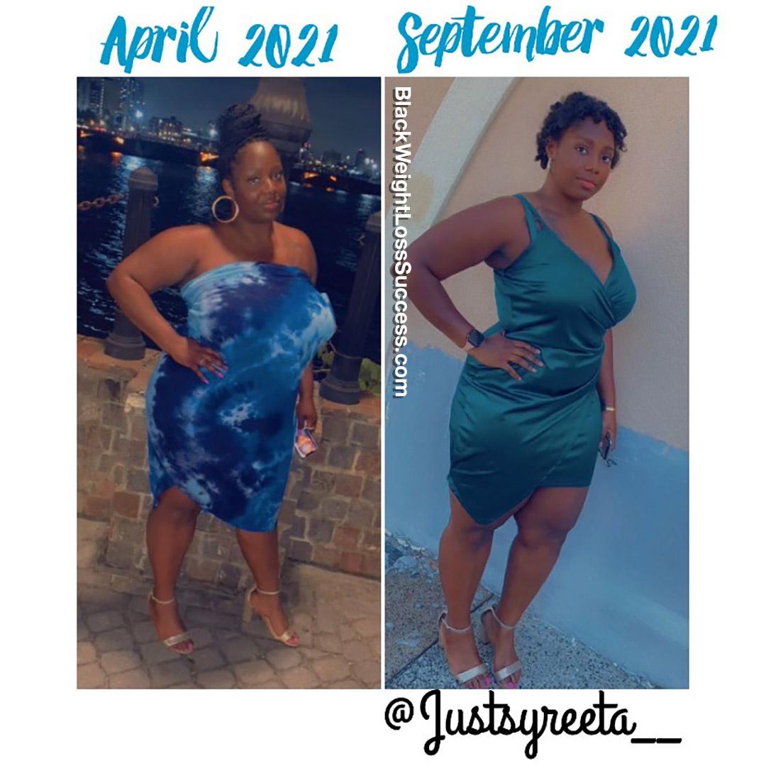 Syreeta lost 58 pounds