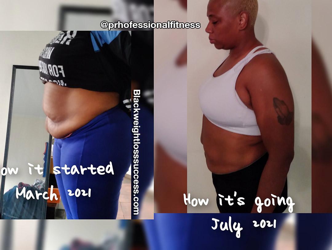 Tynesha lost 34 pounds