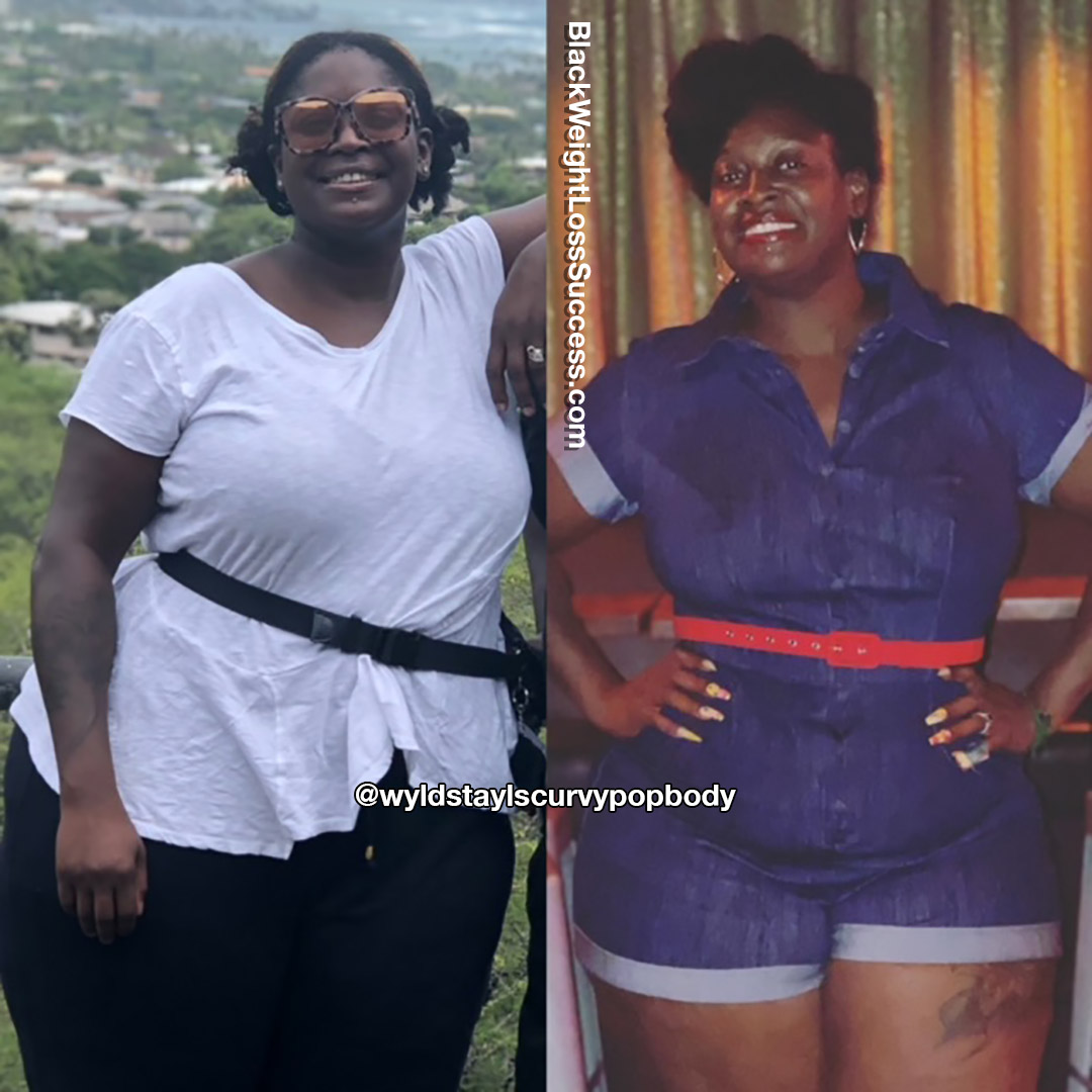 Chrystal lost several dress sizes