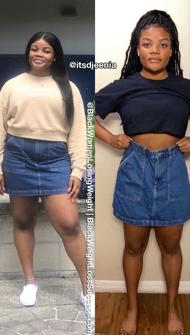 Djeenia lost 46 pounds