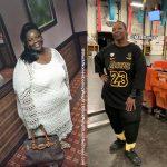 Sandy lost 161 pounds