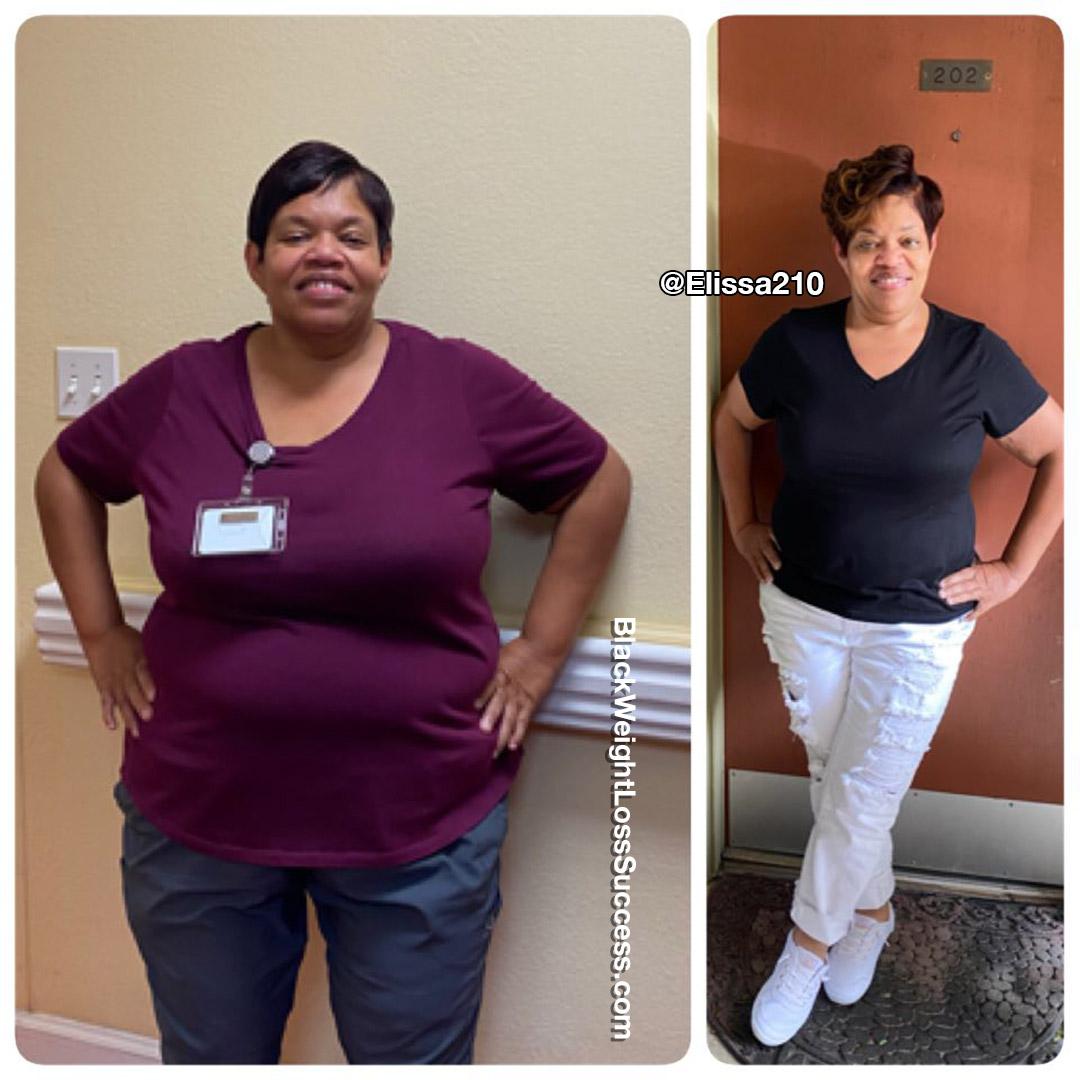 Shana lost 84 pounds